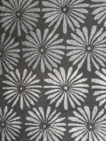 Vloerkleed Flower kleur grey