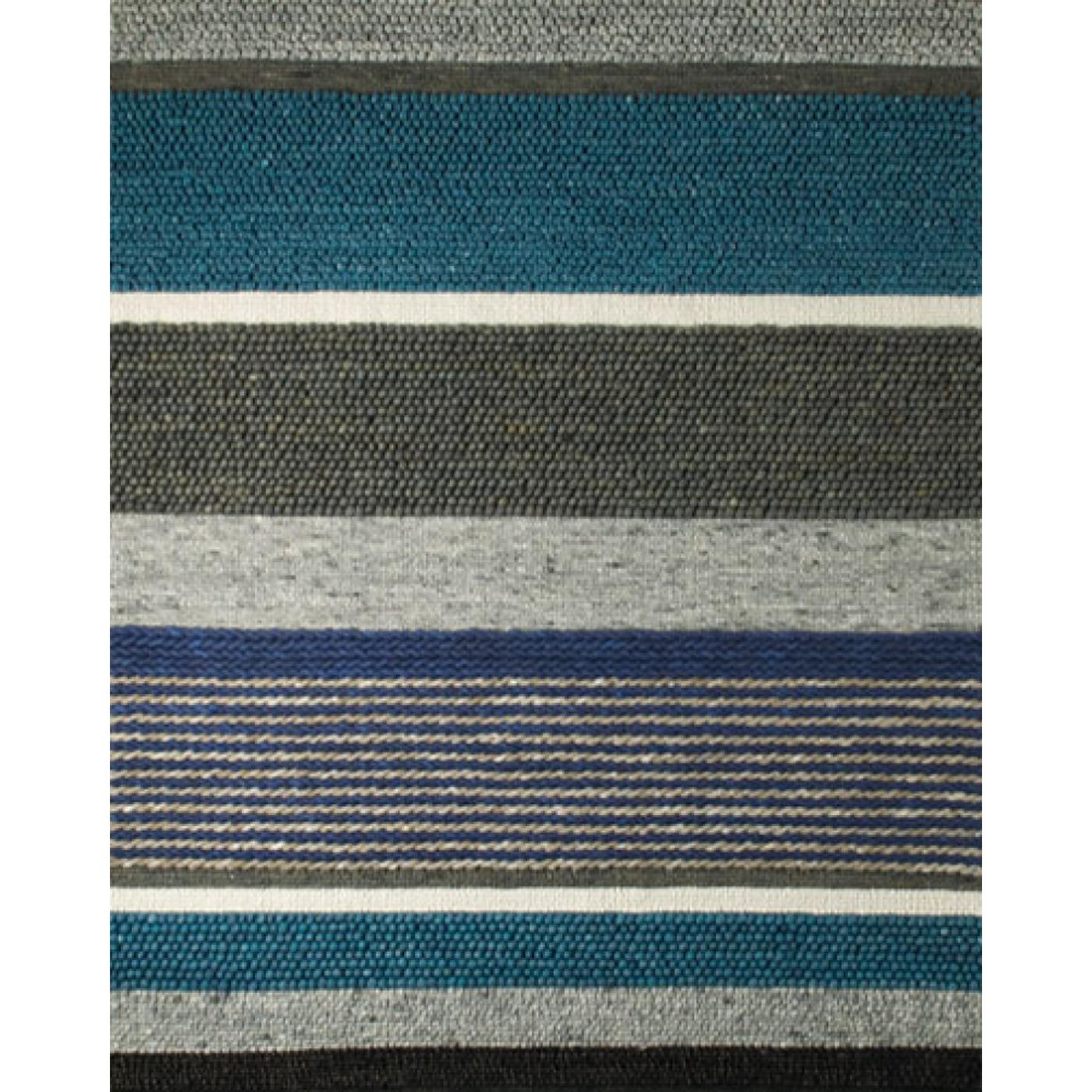 Vloerkleed Perletta Structures Mix Blauw met grijs