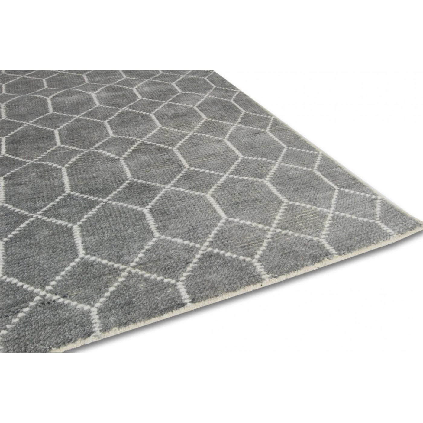 vloerkleed laatz grey