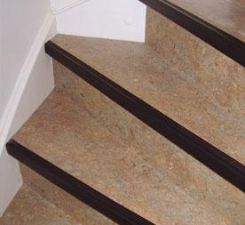 trap met marmoleum linoleum